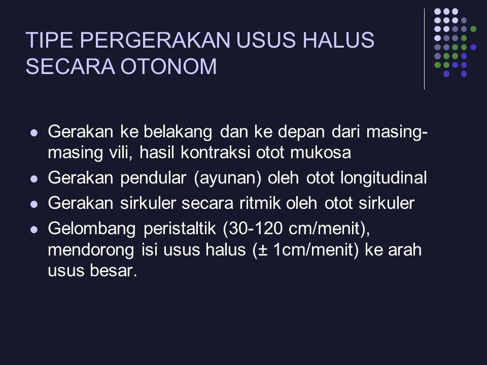 TIPE PERGERAKAN USUS HALUS SECARA OTONOM