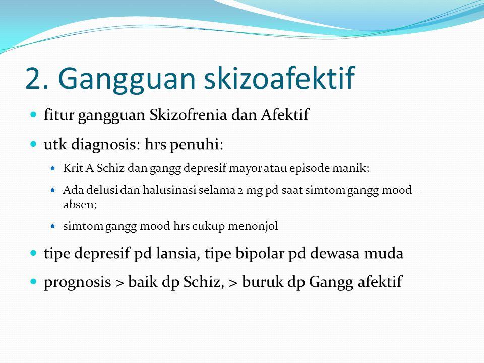 2. Gangguan skizoafektif