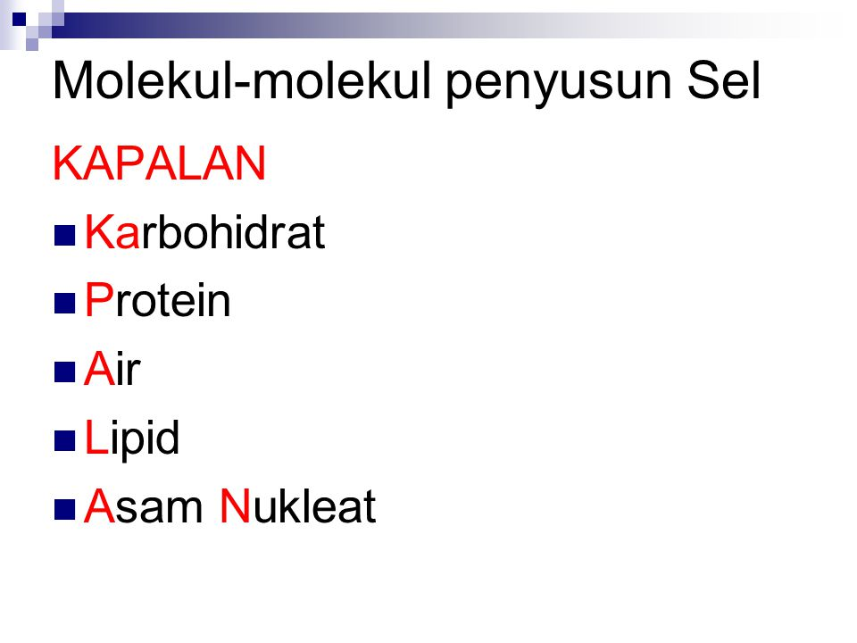 Molekul-molekul penyusun Sel