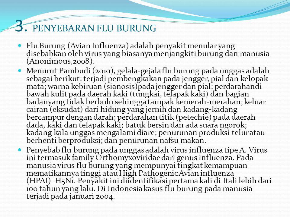 3. PENYEBARAN FLU BURUNG