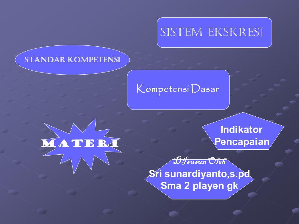 Sistem Ekskresi Kompetensi Dasar Indikator Pencapaian Materi
