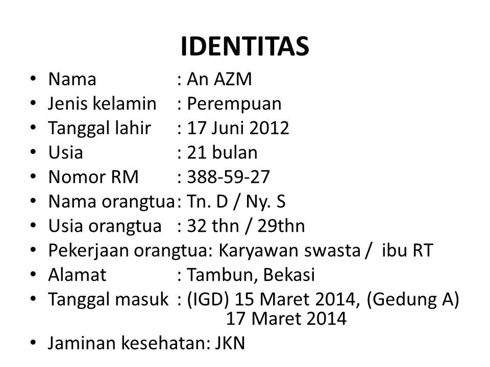 IDENTITAS Nama : An AZM Jenis kelamin : Perempuan
