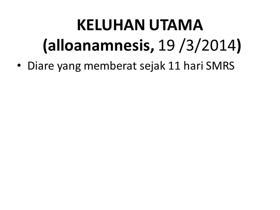 KELUHAN UTAMA (alloanamnesis, 19 /3/2014)