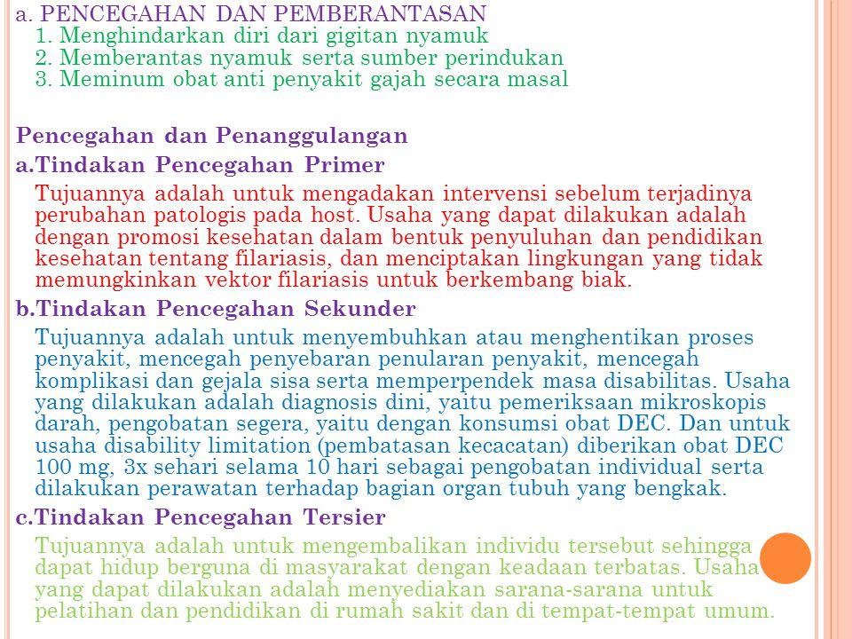 a. PENCEGAHAN DAN PEMBERANTASAN 1