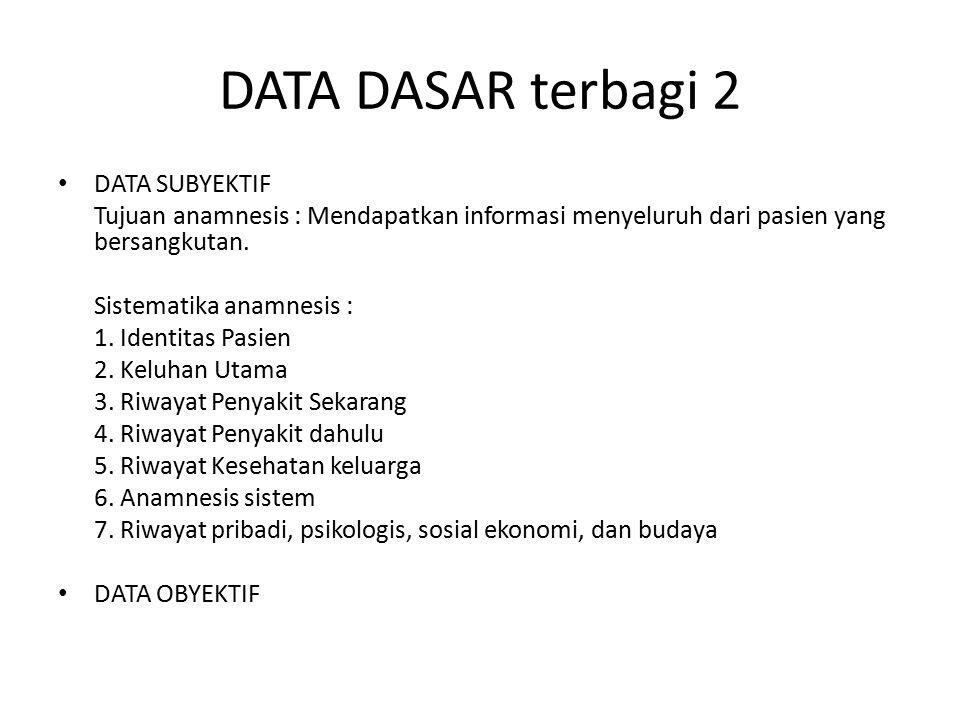DATA DASAR terbagi 2 DATA SUBYEKTIF