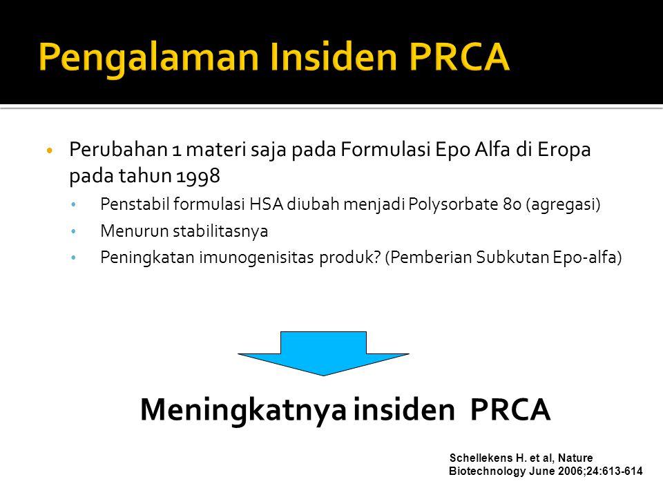 Pengalaman Insiden PRCA