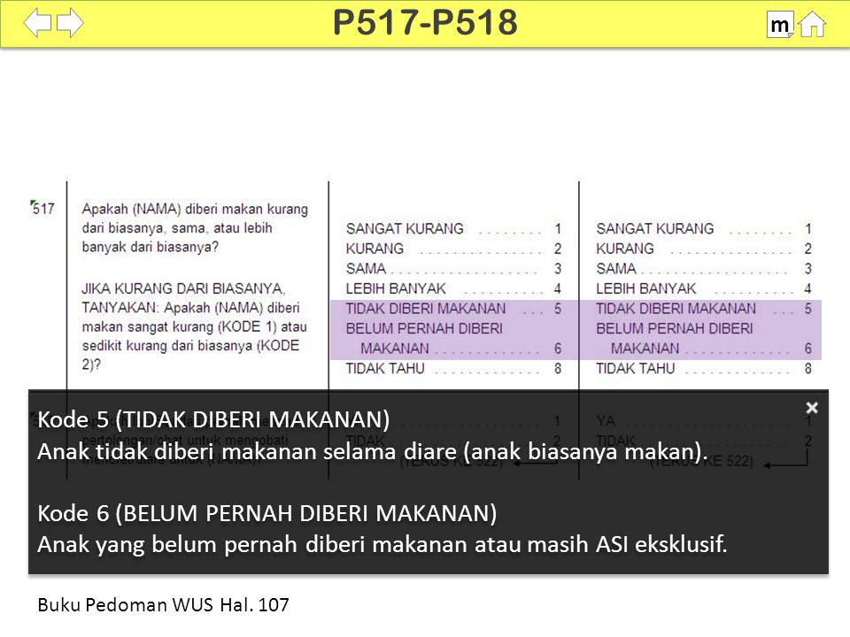 P517-P518 Kode 5 (TIDAK DIBERI MAKANAN)