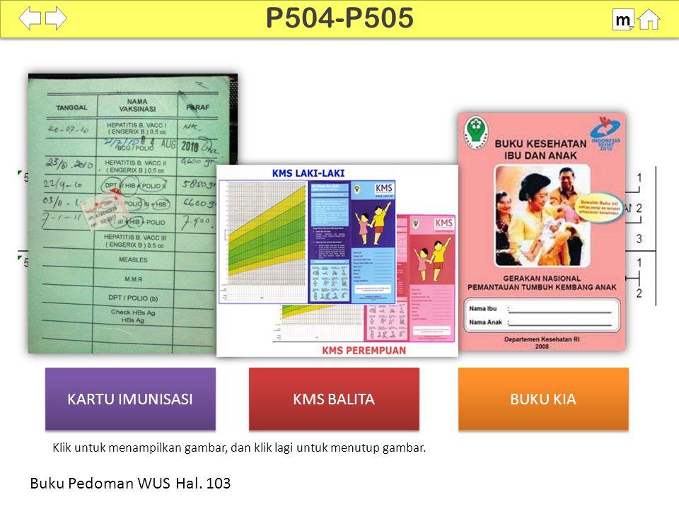 P504-P505 m KARTU IMUNISASI KMS BALITA BUKU KIA
