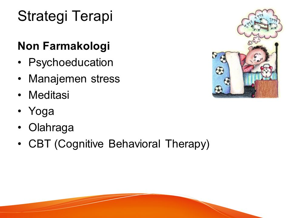 Strategi Terapi Non Farmakologi Psychoeducation Manajemen stress