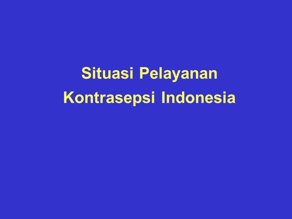 Situasi Pelayanan Kontrasepsi Indonesia