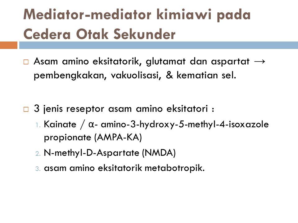 Mediator-mediator kimiawi pada Cedera Otak Sekunder