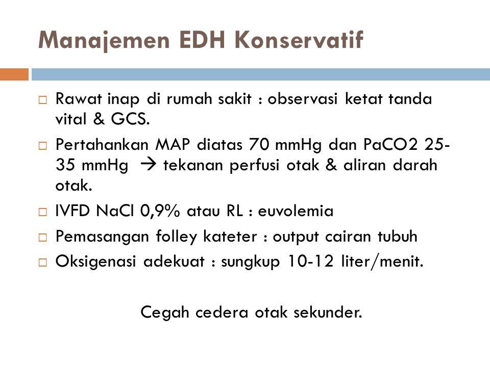 Manajemen EDH Konservatif