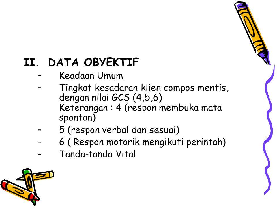 II. DATA OBYEKTIF Keadaan Umum