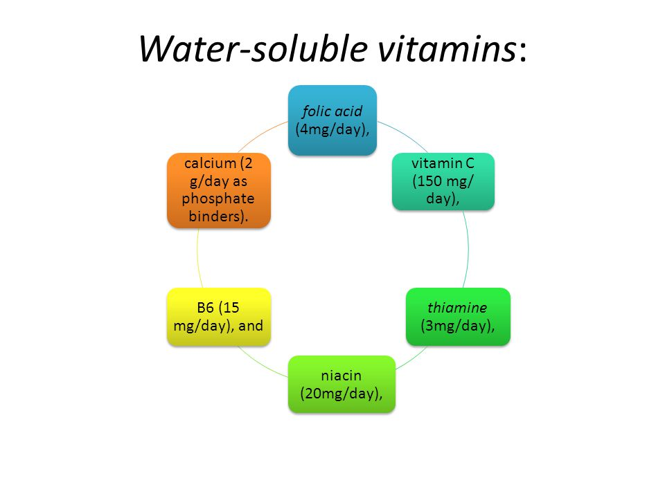 Water-soluble vitamins: