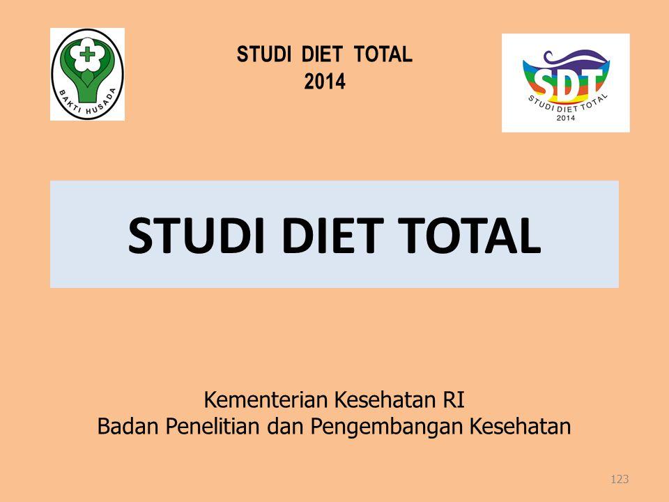 STUDI DIET TOTAL STUDI DIET TOTAL 2014 Kementerian Kesehatan RI