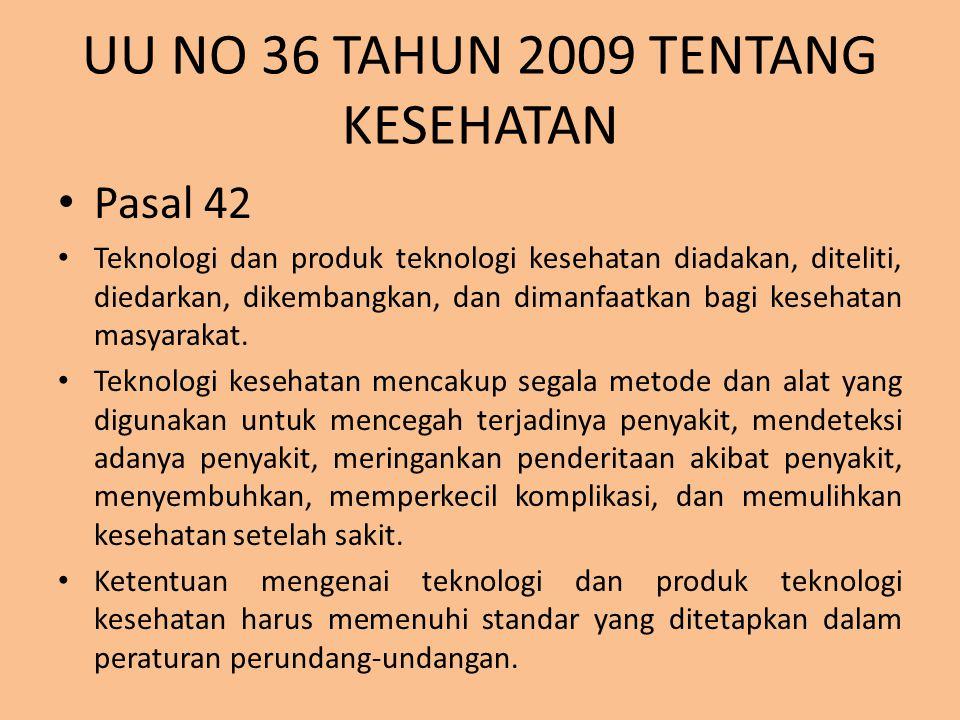 UU NO 36 TAHUN 2009 TENTANG KESEHATAN
