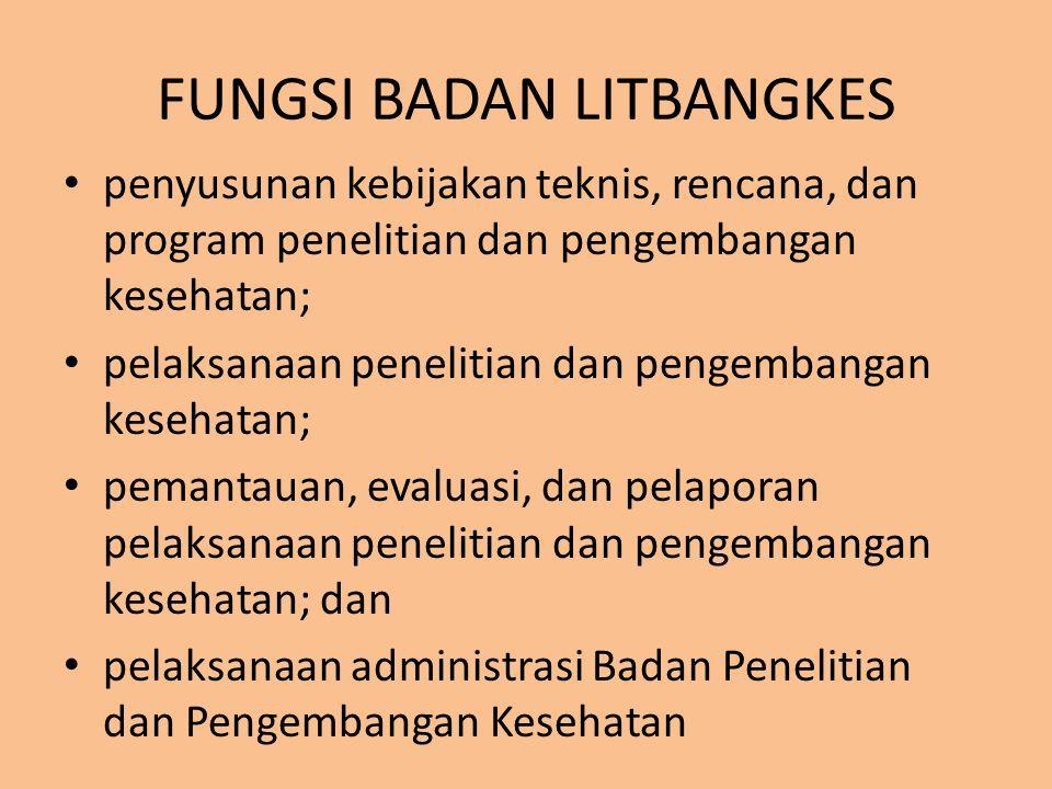 FUNGSI BADAN LITBANGKES