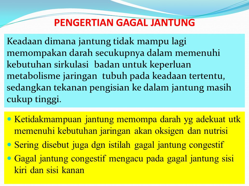 PENGERTIAN GAGAL JANTUNG