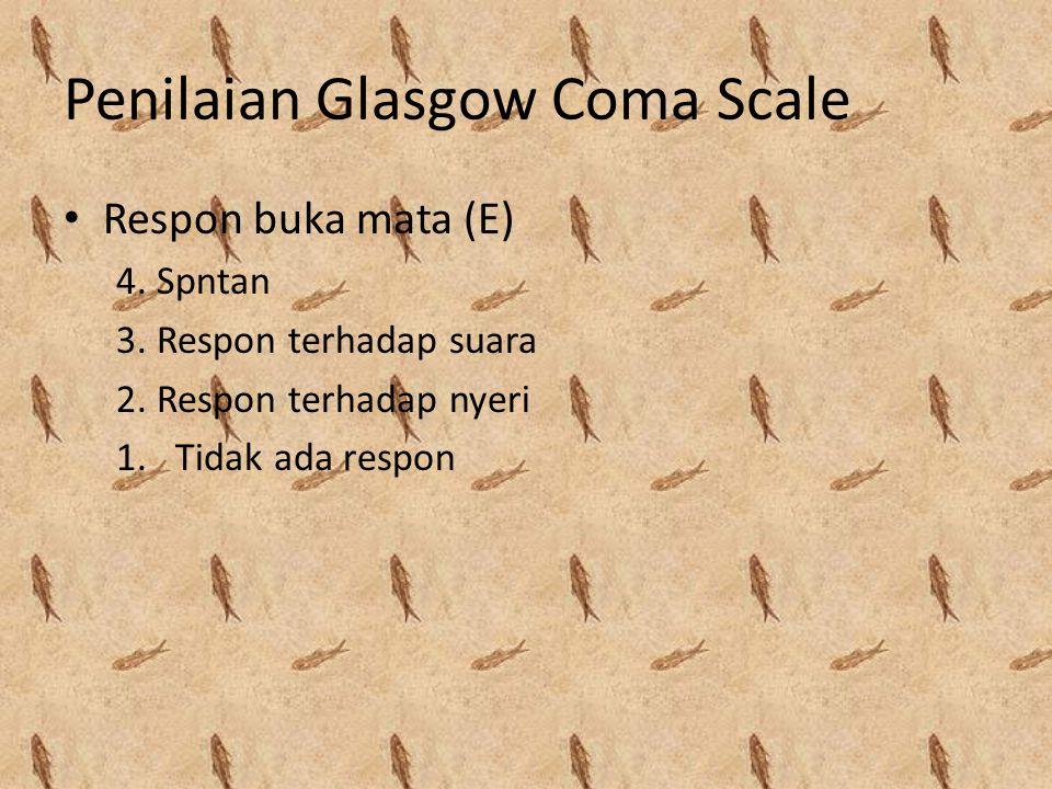 Penilaian Glasgow Coma Scale
