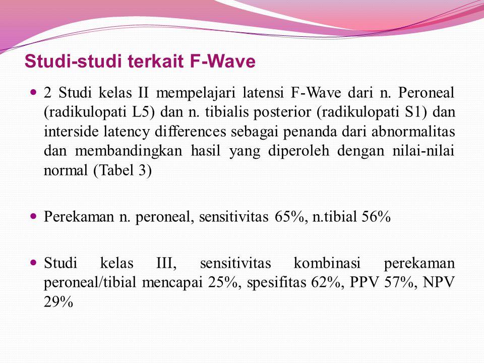 Studi-studi terkait F-Wave
