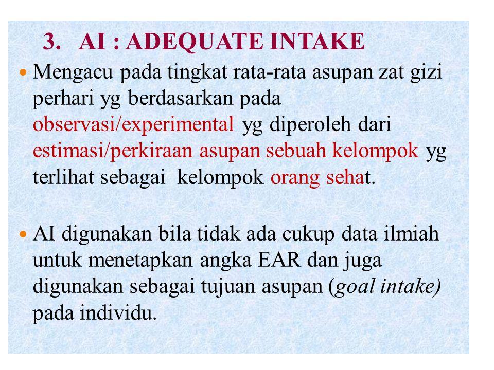 3. AI : ADEQUATE INTAKE