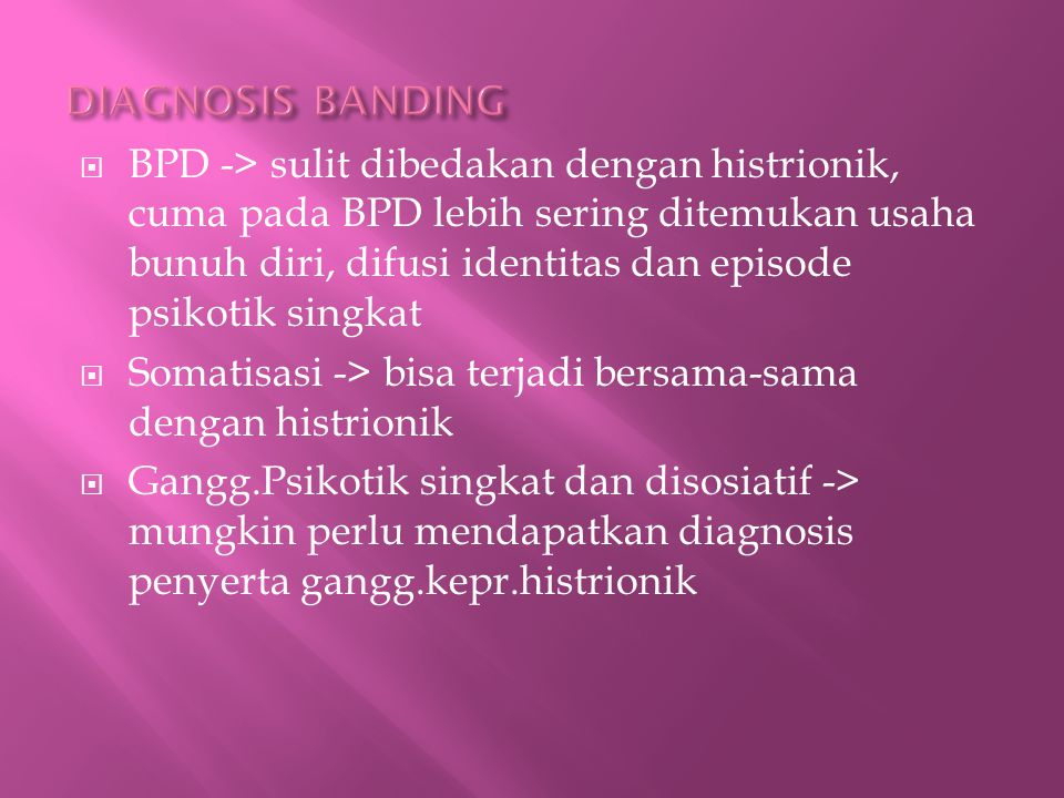 DIAGNOSIS BANDING