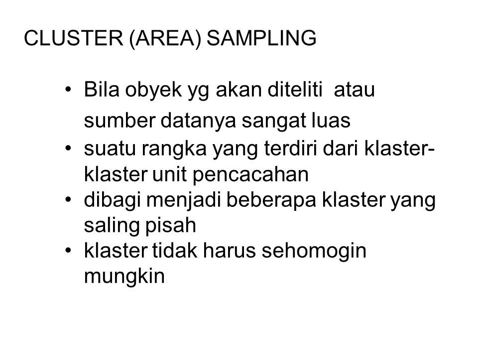 CLUSTER (AREA) SAMPLING