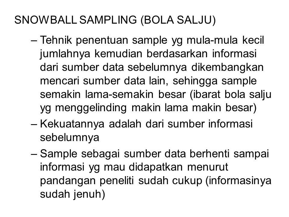 SNOWBALL SAMPLING (BOLA SALJU)