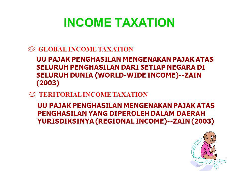 INCOME TAXATION GLOBAL INCOME TAXATION