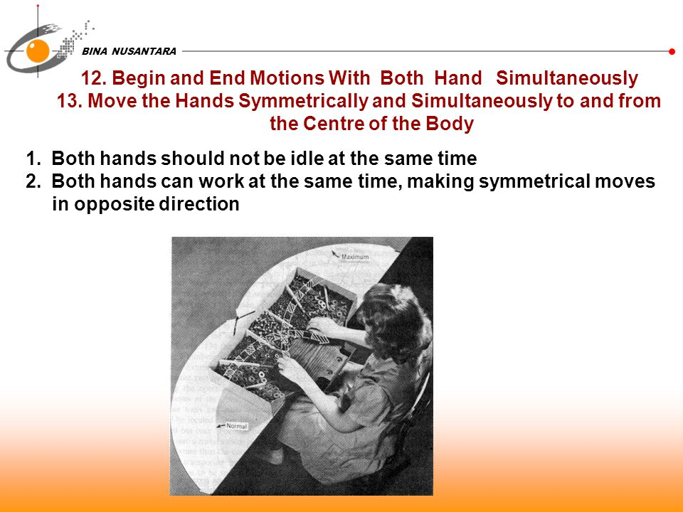 12. Begin and End Motions With Both Hand Simultaneously