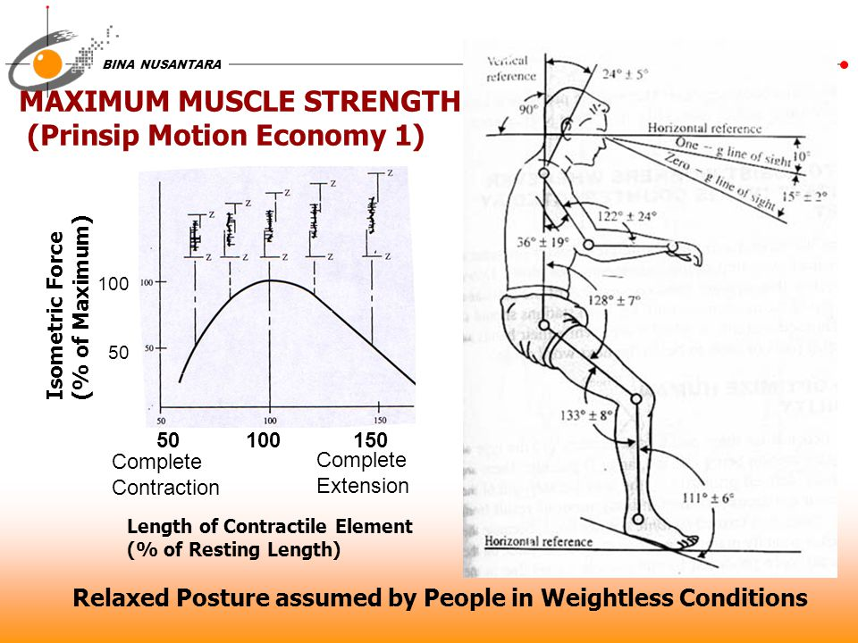 MAXIMUM MUSCLE STRENGTH (Prinsip Motion Economy 1)