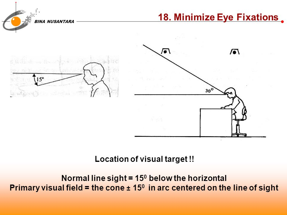18. Minimize Eye Fixations