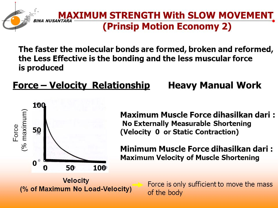 MAXIMUM STRENGTH With SLOW MOVEMENT (Prinsip Motion Economy 2)