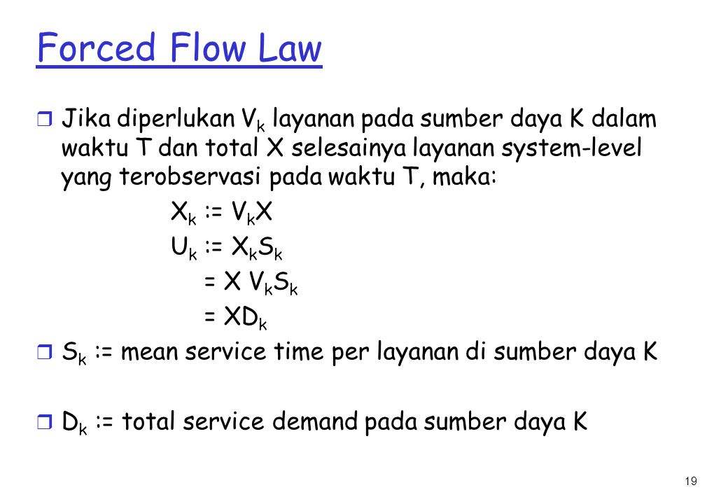 Forced Flow Law