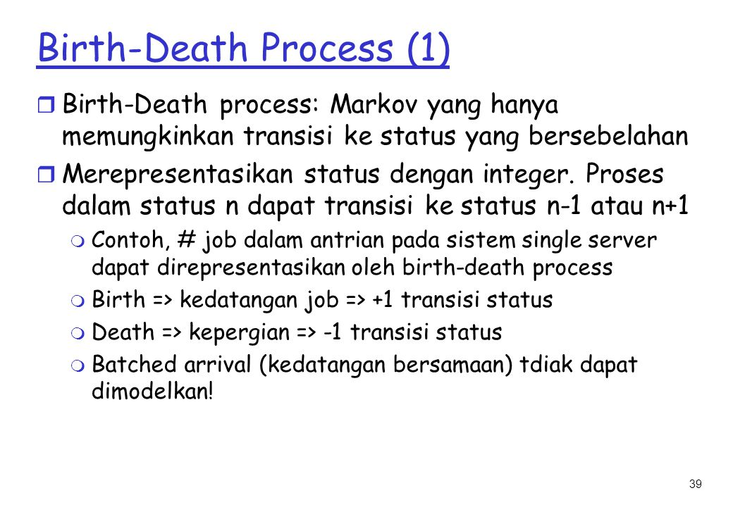 Birth-Death Process (1)