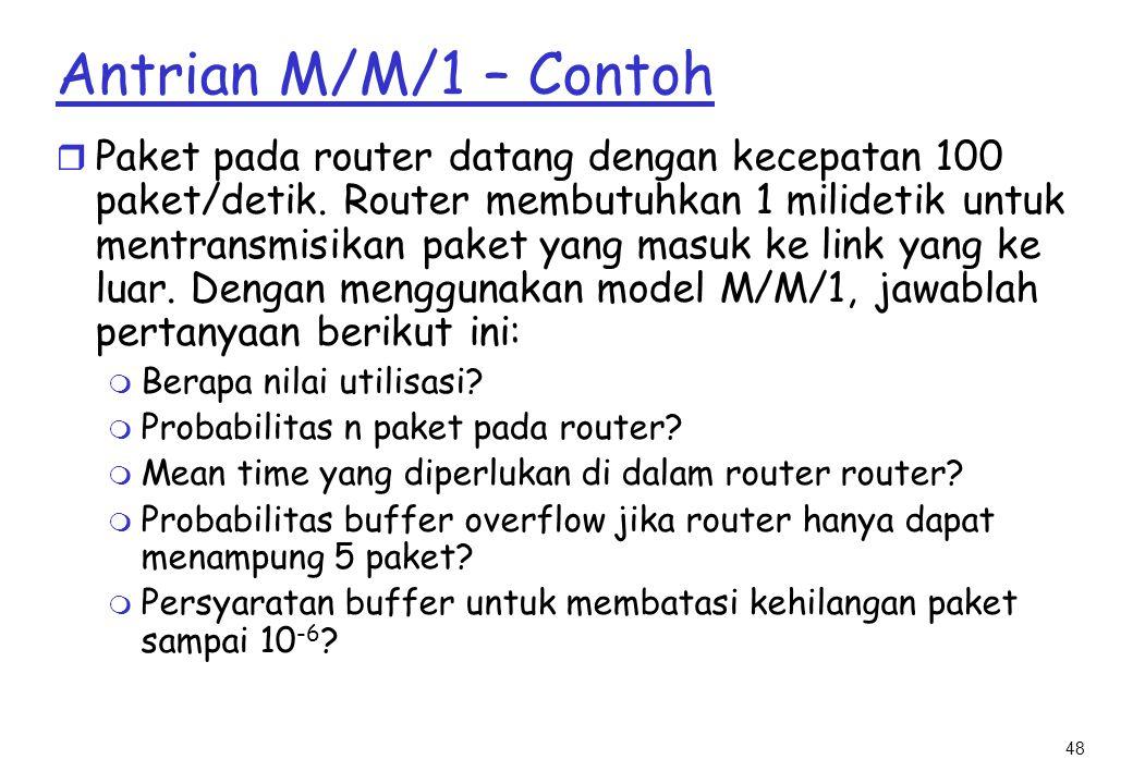 Antrian M/M/1 – Contoh