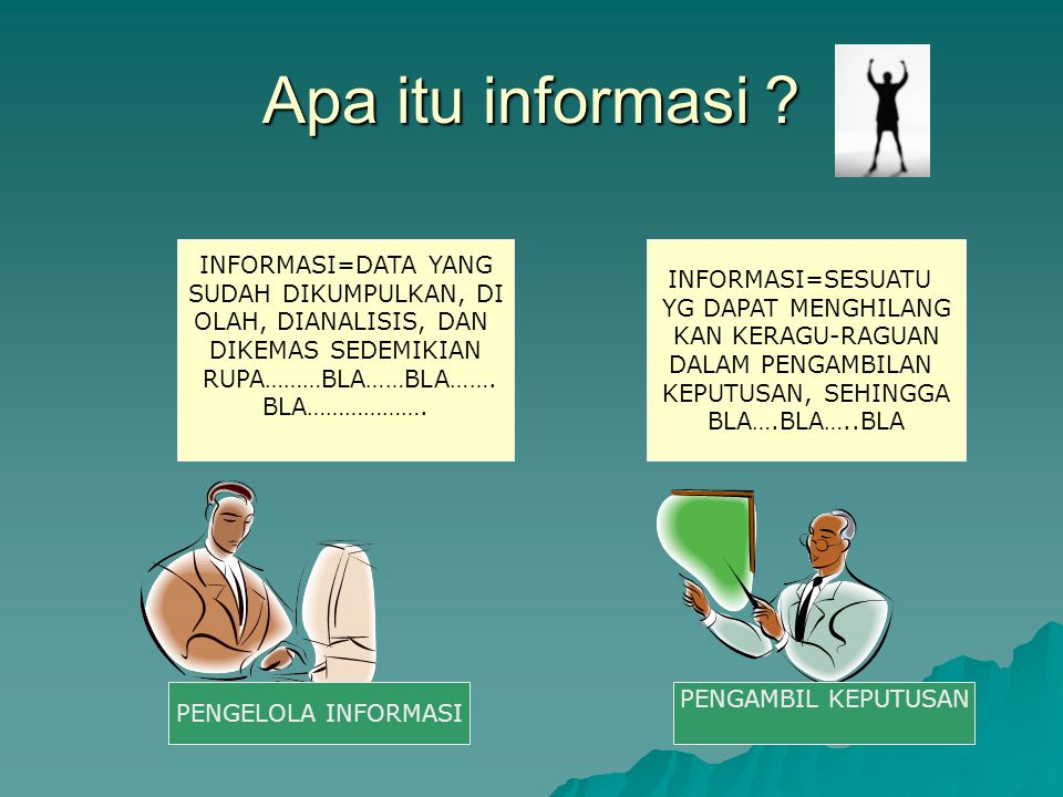 Apa itu informasi INFORMASI=DATA YANG INFORMASI=SESUATU