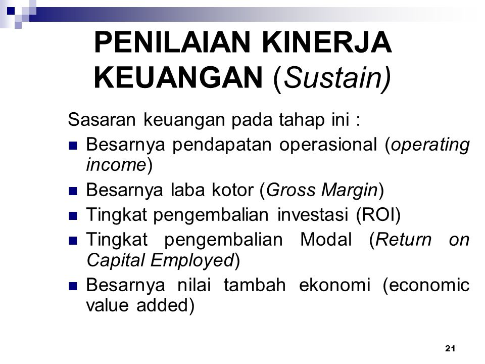 PENILAIAN KINERJA KEUANGAN (Sustain)