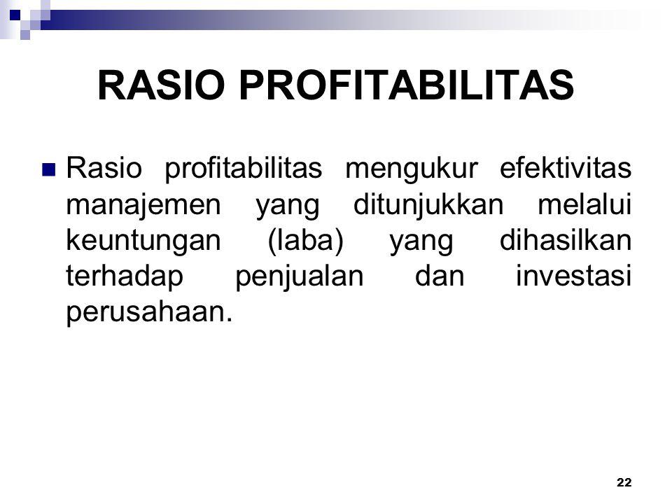 RASIO PROFITABILITAS