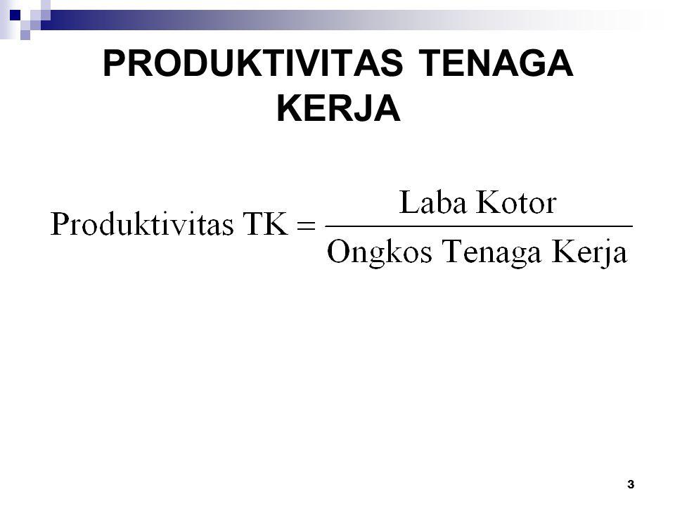 PRODUKTIVITAS TENAGA KERJA