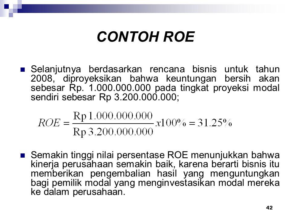 CONTOH ROE