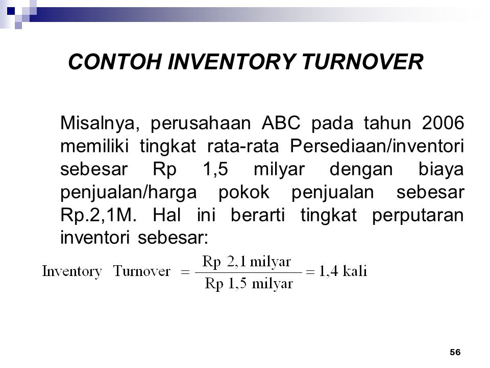 CONTOH INVENTORY TURNOVER