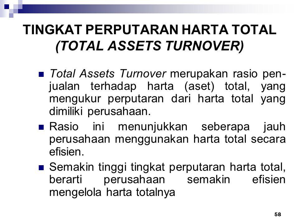 TINGKAT PERPUTARAN HARTA TOTAL (TOTAL ASSETS TURNOVER)
