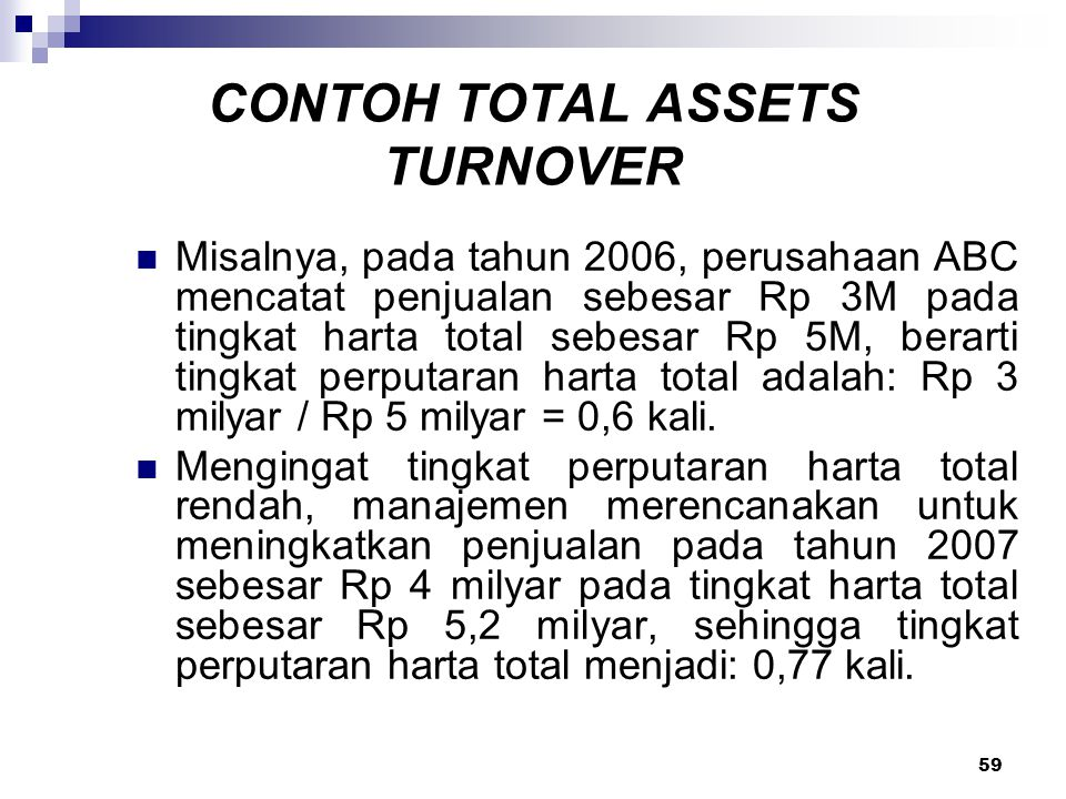 CONTOH TOTAL ASSETS TURNOVER