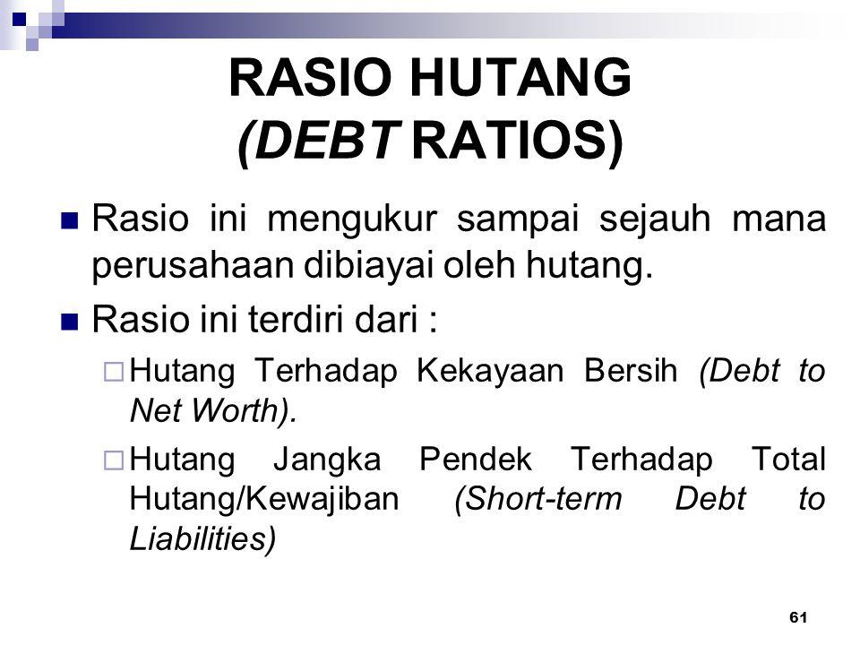 RASIO HUTANG (DEBT RATIOS)
