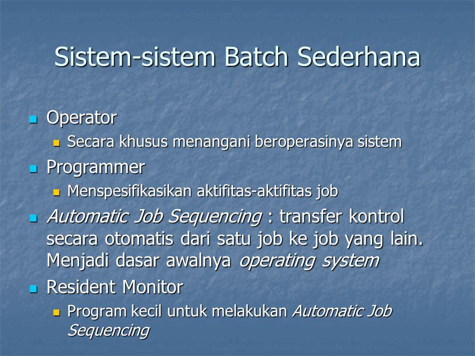 Sistem-sistem Batch Sederhana