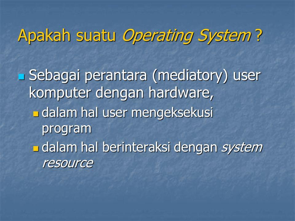Apakah suatu Operating System