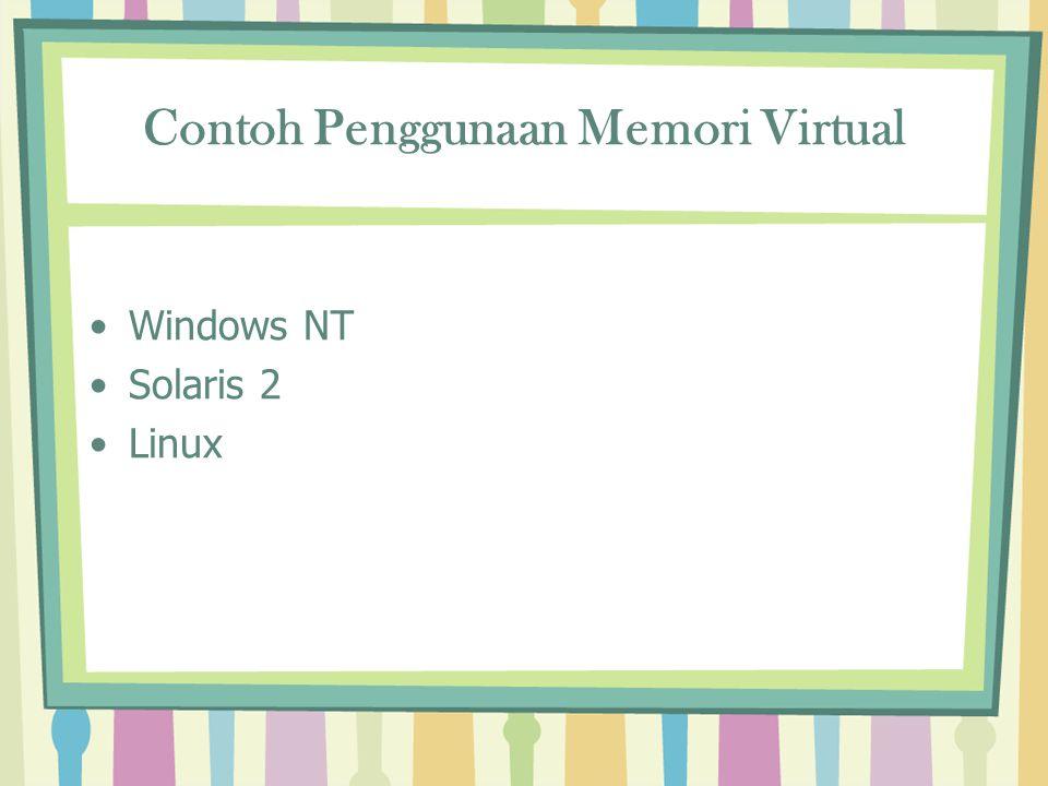 Contoh Penggunaan Memori Virtual