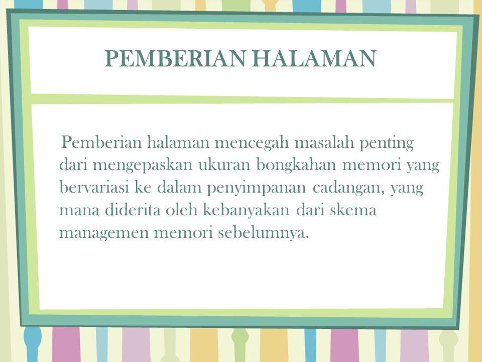 PEMBERIAN HALAMAN