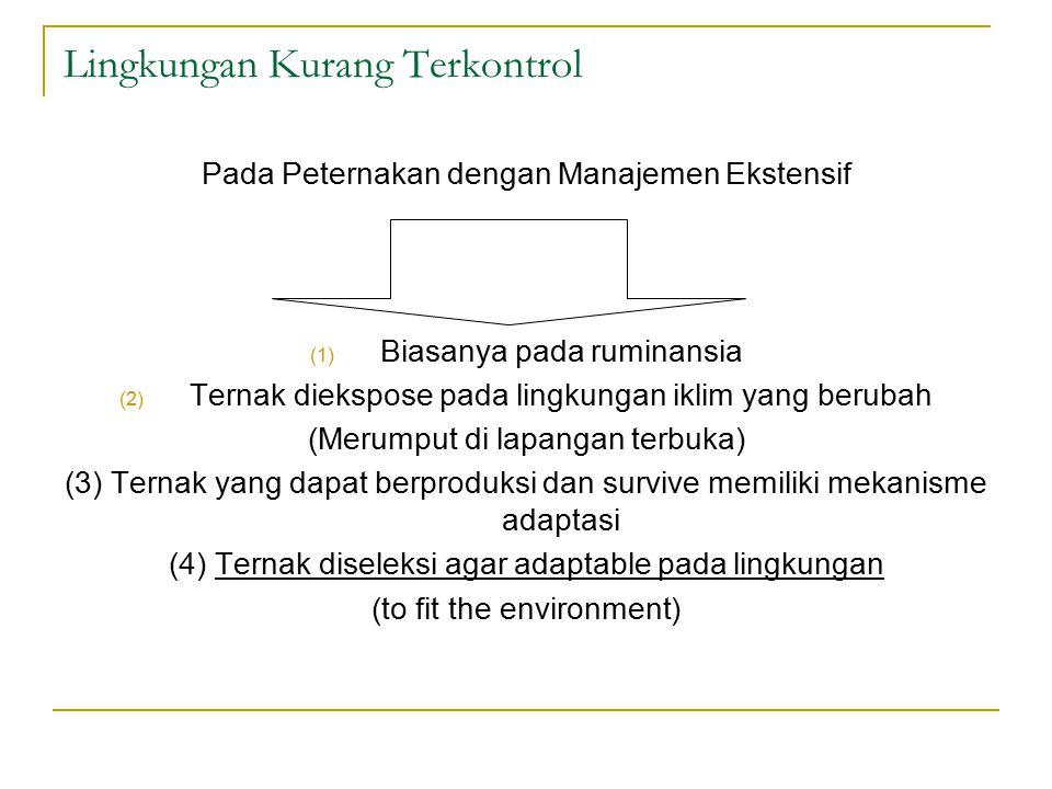 Lingkungan Kurang Terkontrol